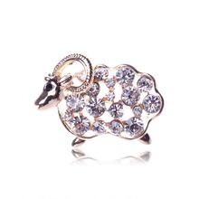XZ0026 2015 new fashion new year with Rhinestone Brooch alloy sheep cute little sheep Brooch