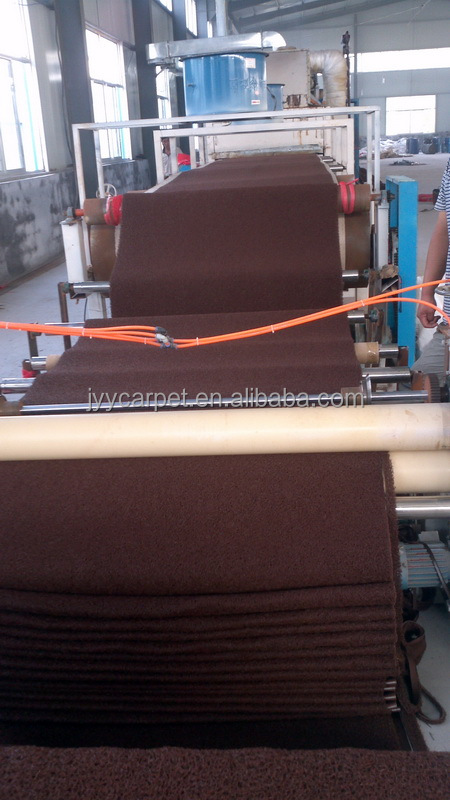 El color marrón PVC coil mat de Laiwu china en 2015