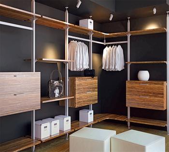 JFB Modern Diy Portable Bedroom Walk In Celling Wardrobe Antique Standard  Size Aluminum Pole System Closet