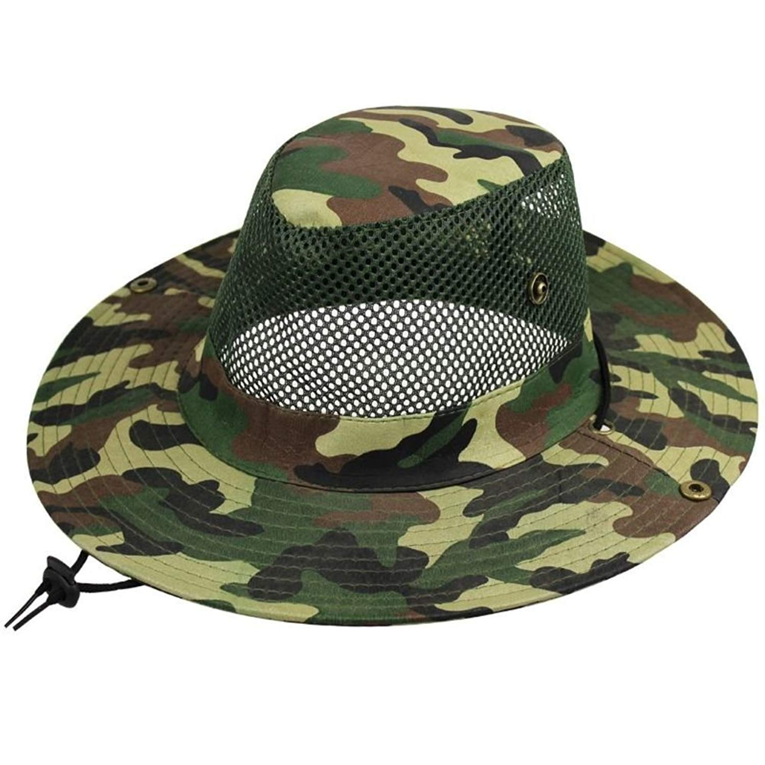 Outdoor climbing hat/Bucket Hat/ sunscreen Sunhat/Camouflage caps/Big brimmed hat