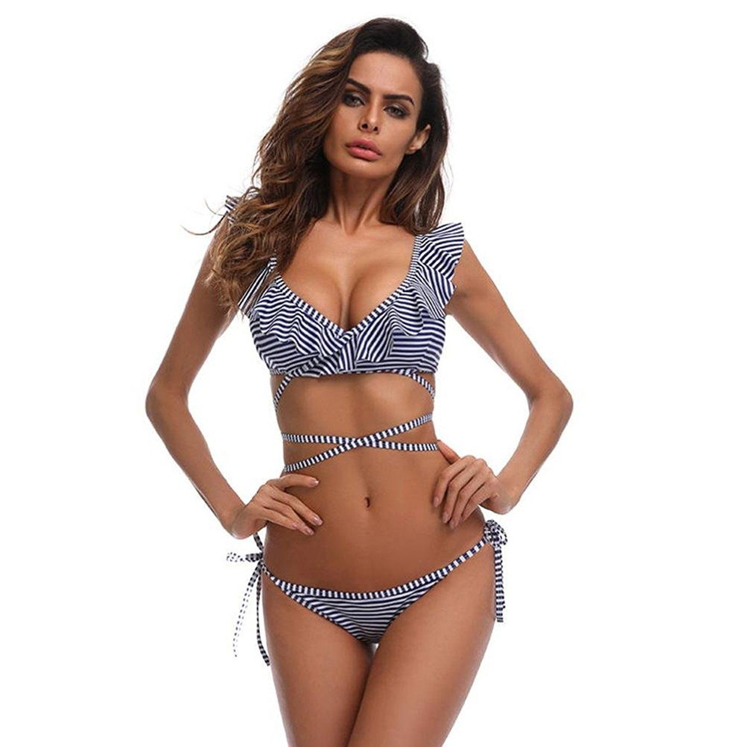 OUBAO Bikini Sets Swimsuits for Women Swimwear Push Up Printed Beachwear Girls Bathing Suits Ladies