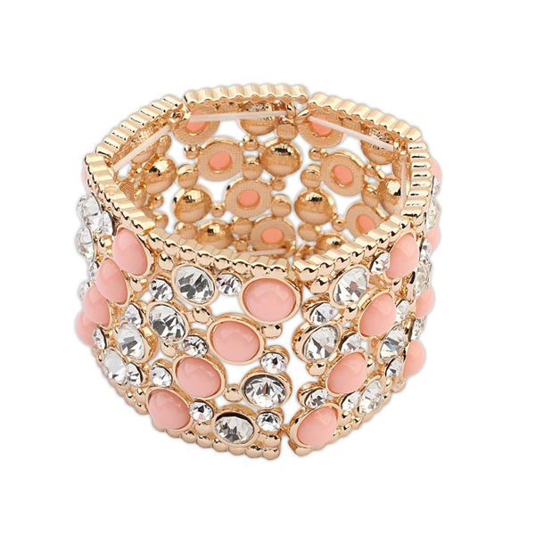 Colorful beaded bangle popular at New York cheap bridal party jewelry girls new fashion resin bracelets 2014 PB1944