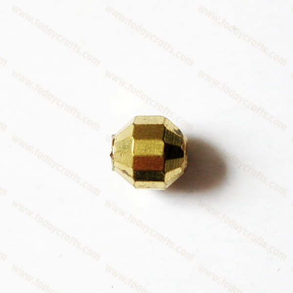 8mm Hole1.8mm brass faceted fishing square tube spacer beads