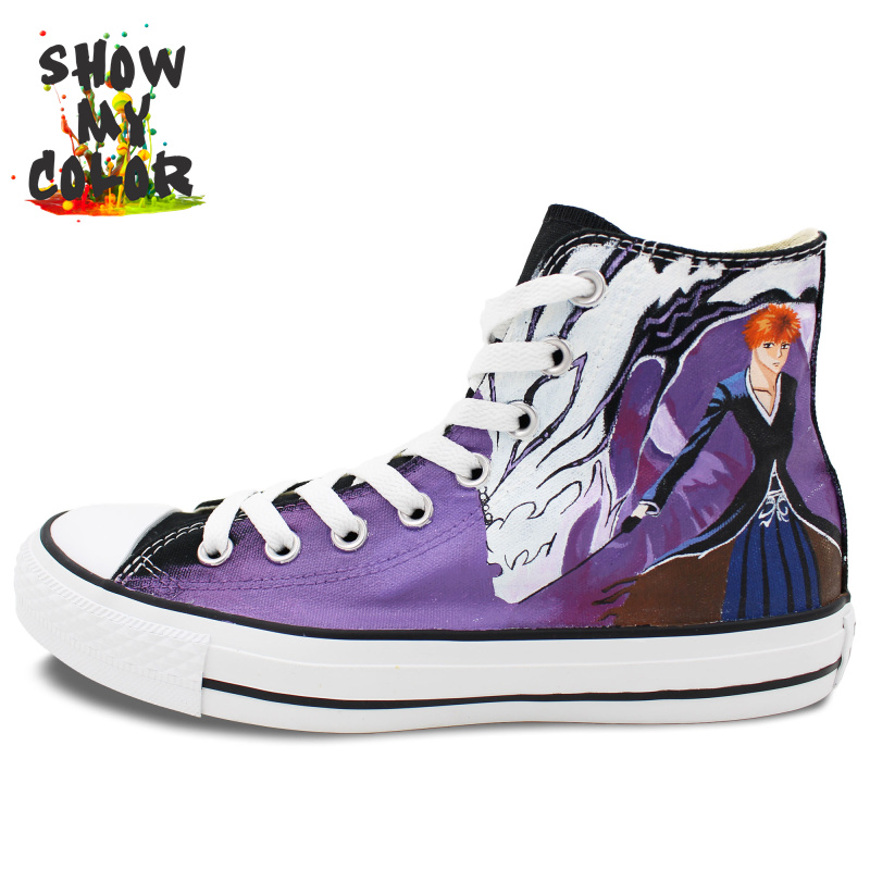 Bleach Anime Converse Shoes for Women Men Hand Painted ...