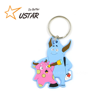 Custom made flexible soft pvc 3d keychain / rubber key chain with logo