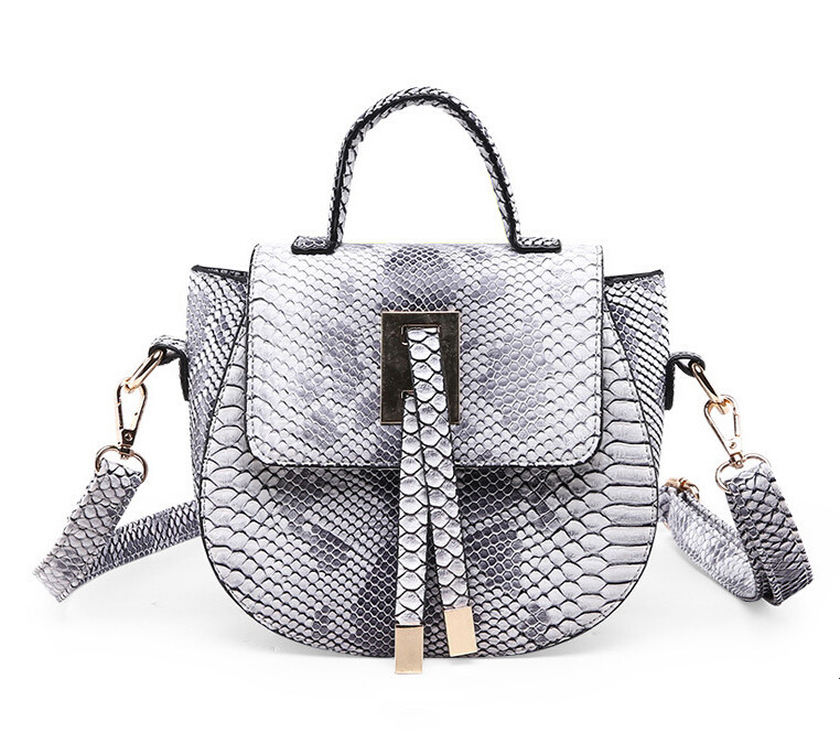 Snakeskin Messenger Bag Tote Designer Small Bolso Mujer Couro Leather Blet  Crossbody Bag For Women Mini 4979d8f82fb2a