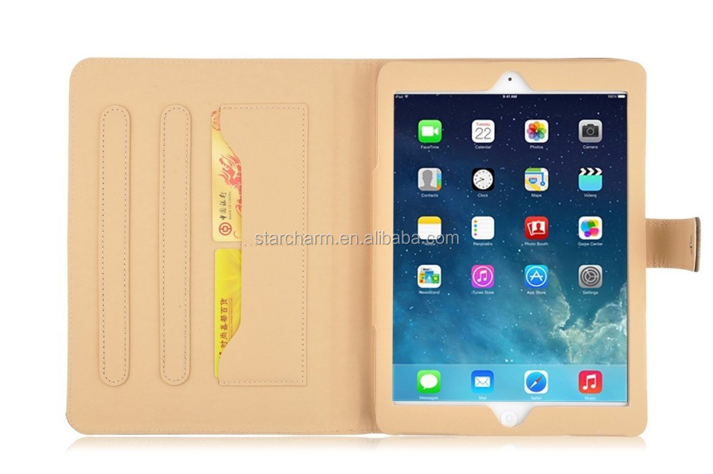 shenzhen manufacture for ipad air case,for ipad air leather case with stand