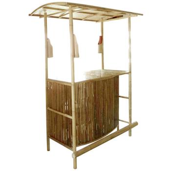 btb104 outdoor bamboo tiki bar with bamboo roof bar counter for rh alibaba com Small Outdoor Bar for Sale Floating Tiki Bar for Sale