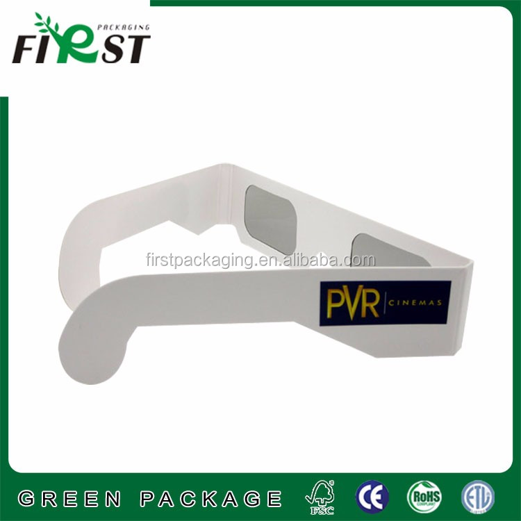 paper cardboard christmas rainbow glasses,3d rave prism glasses/white frame glasses 3d linear paper with custom logo