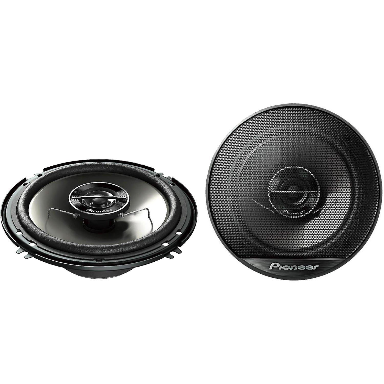 """Pioneer TS Series 6.5"""" 500 Watt Peak / 80 Watt RMS 2-Way 4 Ohm Coaxial Car Stereo Speakers with 1-3/16"""" PEI Balanced Dome Tweeter"""