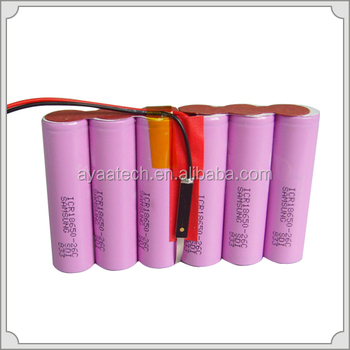 Rechargeable Li-ion Battery Pack 3.7v 2200 mAh