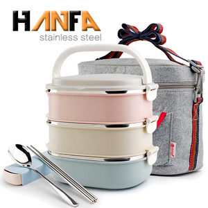 Wholesale stainless steel bento boxes lunchbox rectangle shaped leakproof bento lunch box