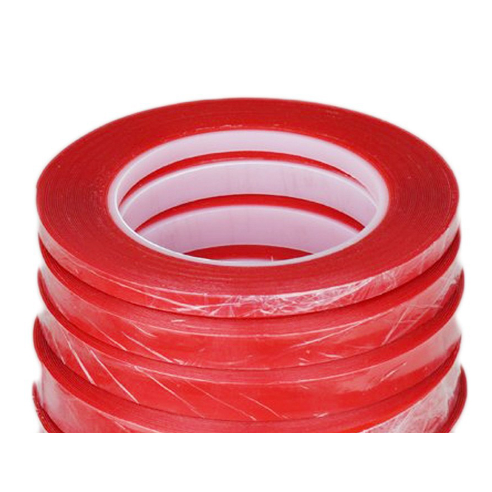 Strong Red Double Sided Sticky Tape with A Transparent Polyester Film For Phone LCD Screen Panel Repairing 1Mm 3Mm 5Mm 20Mm