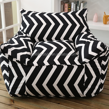 Astonishing Visi Indoor Canvas Bean Bag Armchair White And Black Pattern Bean Bag Lazy Sofa Cover Wholesale Buy Indoor Bean Bag Lazy Sofa Bean Bag Cover Inzonedesignstudio Interior Chair Design Inzonedesignstudiocom