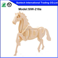 Educational Toy Style and Made of Natural Wood,Wood Material 3D Horse Hand-Crafted Wooden Puzzles