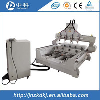 4 spindles and rotaries wood cnc router DSP control system