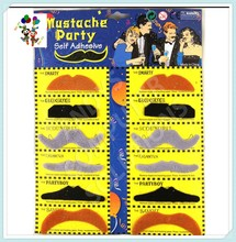 12pcs Halloween Party Funny Synthetic False Fake Moustache HPC-0327