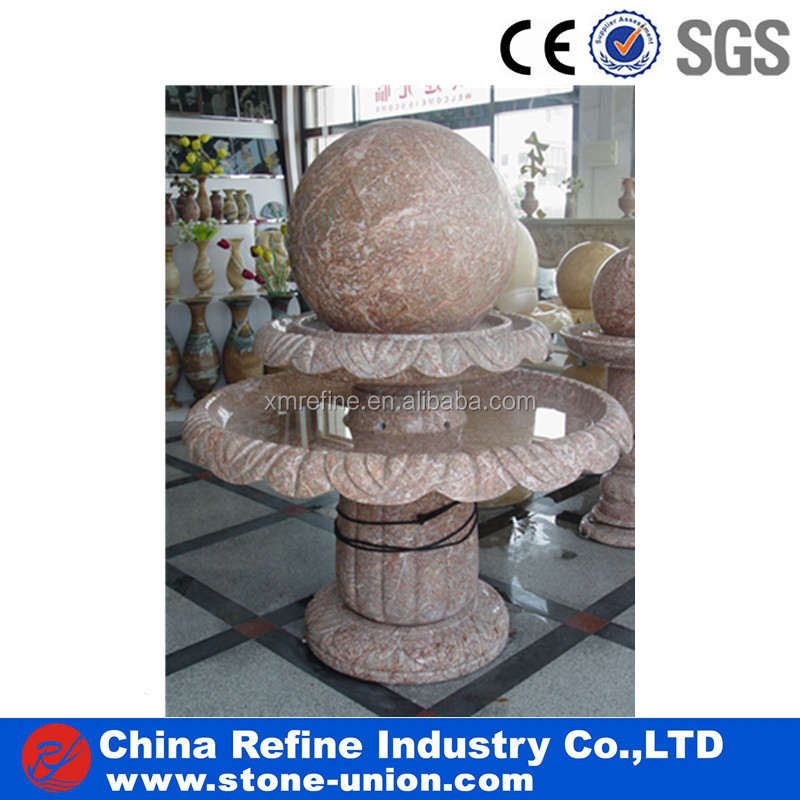 Granite stone water ball rolling fountain