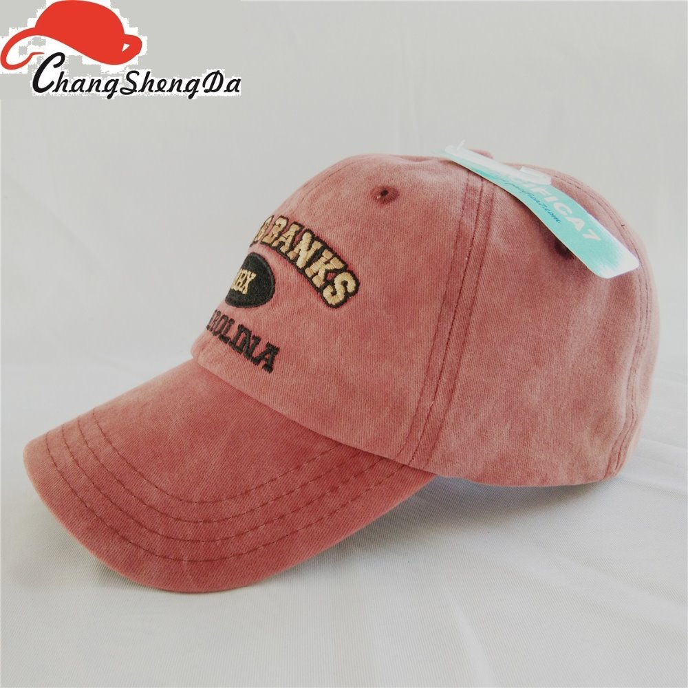 Washed Baseball Cap Cotton Red Color Hats And Caps Women - Buy ... 35095f18058