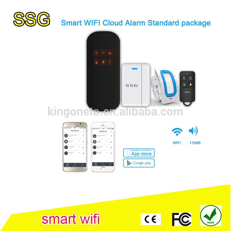 High quality newest home GSM/WIFI cloud security system T0 anti theft with fashionable cosmetic design
