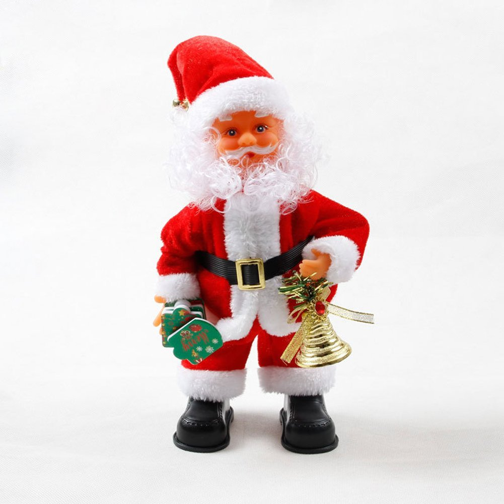 23e3d4768e1cf Get Quotations · JTENGYAO Singing with Bell Dancing Santa Claus Guitarist  Toy