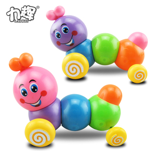 Hot selling flexible toy figures christmas wind up caterpillar toy for baby
