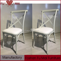 White banquet metal chair /iron frame dining chairs