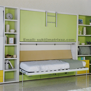 Kids Bunk Wall Bed Modern Pull Down