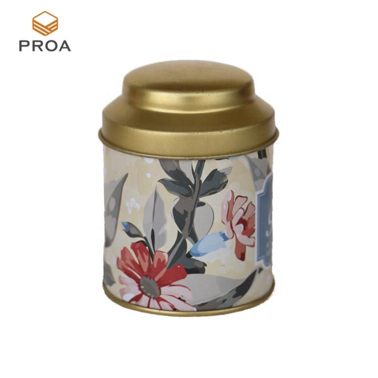 Direto da fábrica Atacado Personalizado impresso de metal caixa de lata de embalagem de chá para venda