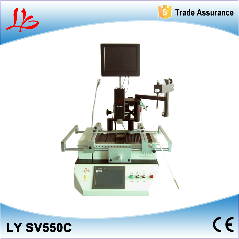 Automatic hot air bga rework station LY SV550C bga repair system with optical alignment