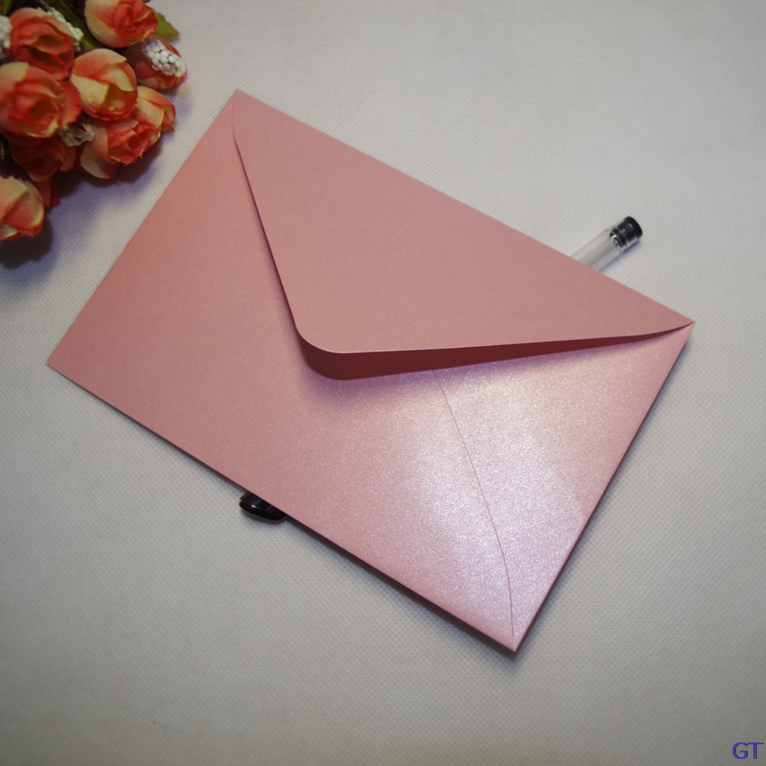 08ffa720a2c6 50Pcs LxW  17x11cm luxury Pearl paper envelopes postcards greeting cards  envelopes for VIP Wedding Party Invitation Card office - us9