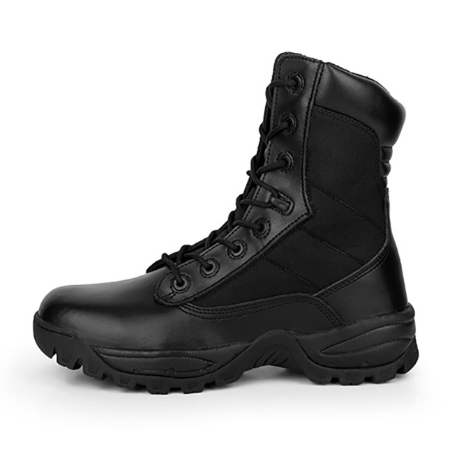 Cheap Military Army Black Leather Men <strong>Boot</strong> in Stock