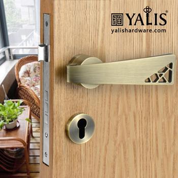 Best Design Chrome Key Lock Door Levers Type Front Door Locks ...
