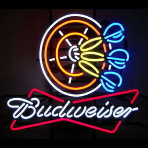 Acrylic 12V outdoor Advertising Budweiser Neon Beer Sign Factory
