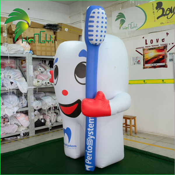 Customized Inflatable Tooth Balloon with Toothbrush for Advertising