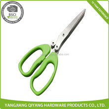 Green Color Plastic Kitchen Stainless Steel Scissors