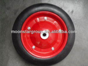 HOT !13 inch 13*3 solid rubber wheel for wheelbarrow for sale