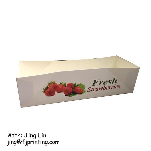 गर्म बिक्री ढेर अप बॉक्स खानपान के लिए कस्टम लोगो मुद्रण नालीदार कागज खाद्य पैकेजिंग प्रदर्शन बॉक्स