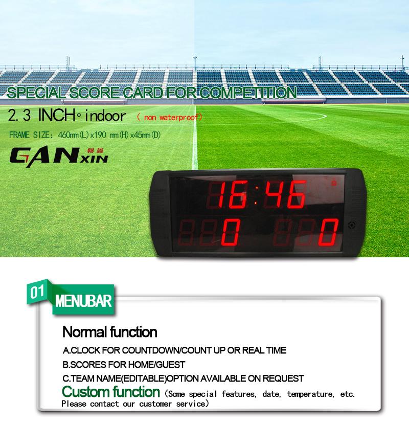 [GANXIN]LED Scoreboard E-scoreboard with IR Remote Control for  football/baseball/basketball