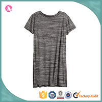 2016 Summer Ladies' long body length t-shirt dress Customized Casual Blouse Top