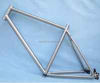 "High performance Gr9 Titanium 650B/27.5"" mountain Bike frame with Gates belt driver system slider dropouts"