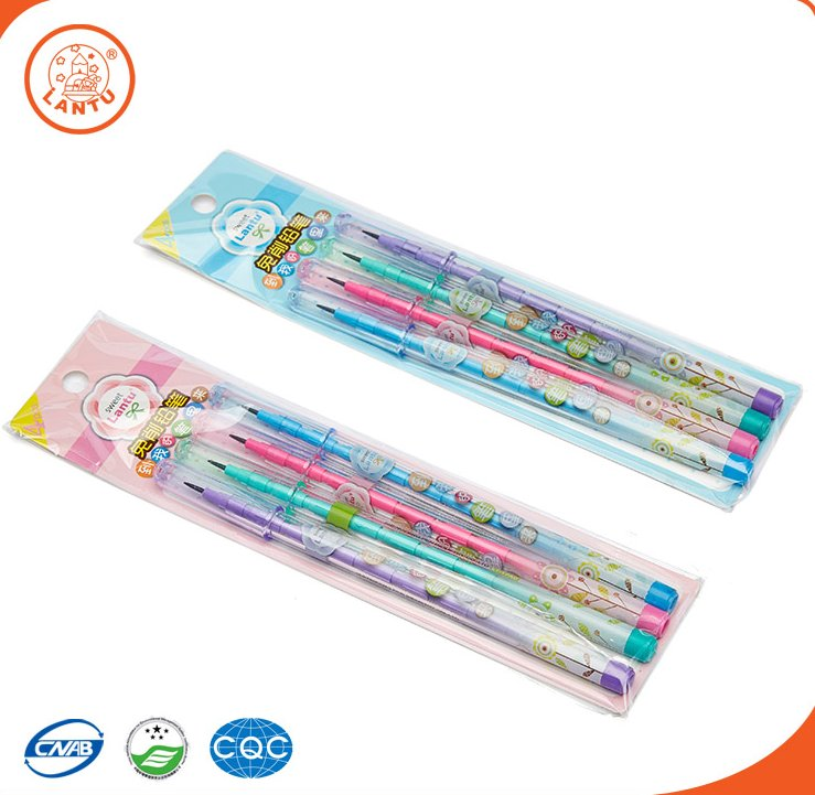 Lantu Office & School Supplies Plastic Extensible Bullet Pencils For Promotion