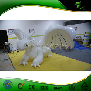 2015 Fashionable Best TPU Most Popular Inflatable Dragon / Giant Inflatable Toothless White Dragon