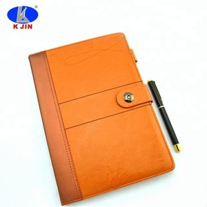 Custom High-end A5 pu business notebook with pen for meeting minutes