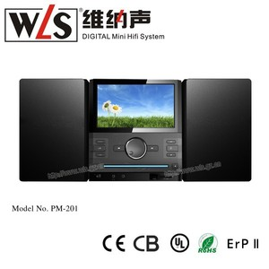 PM201 From China WLS New Micro hifi in home theatre has screen & analog TV function