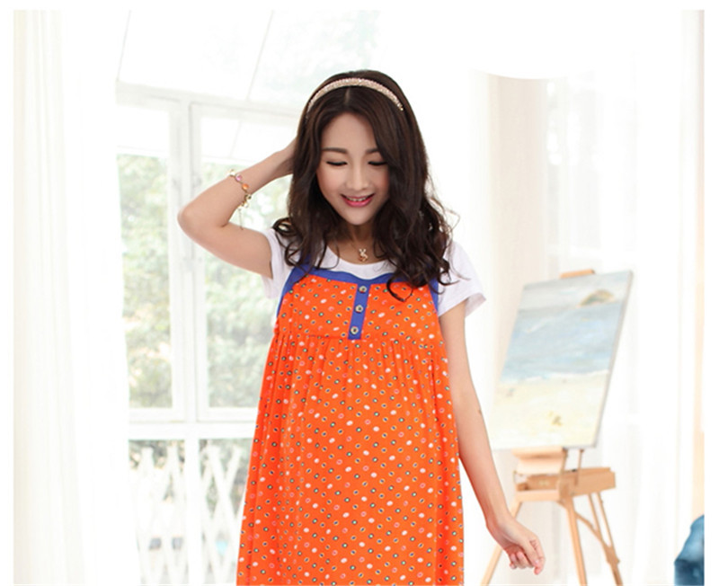 Get Quotations · 2015 Summer Women Dress Ropa Embarazada Cotton Short  Sleeve Pregnant Women Clothing Plus Size Maternity Dresses 13e167569777