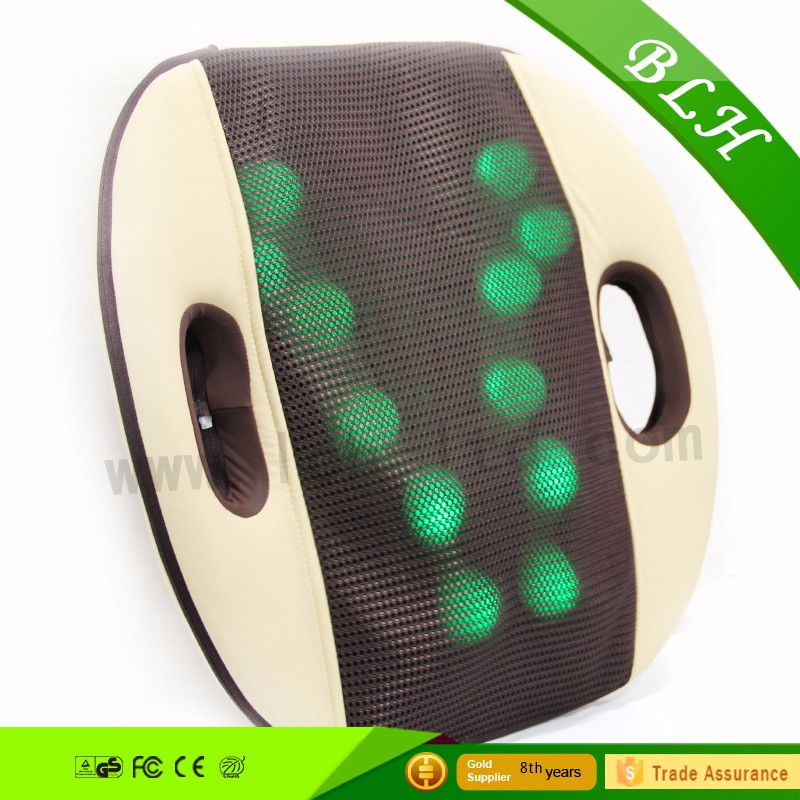 2016 Electric heated kneading thermo shiatsu 3D relax back massager cushion for health care car use