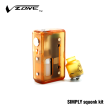 Vape Device Handy Size Vzone SIMPLY Squonk Kit with PEI Material Atomizer Stand Box Mod Bottom Feeder