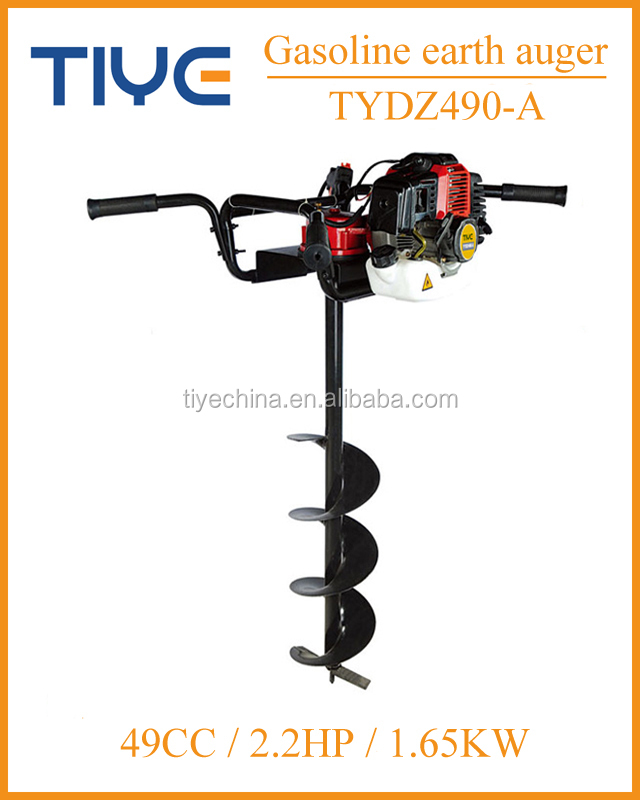 Garden tools earth auger soil drilling machine two stroker petrol ground driller with 200mm auger