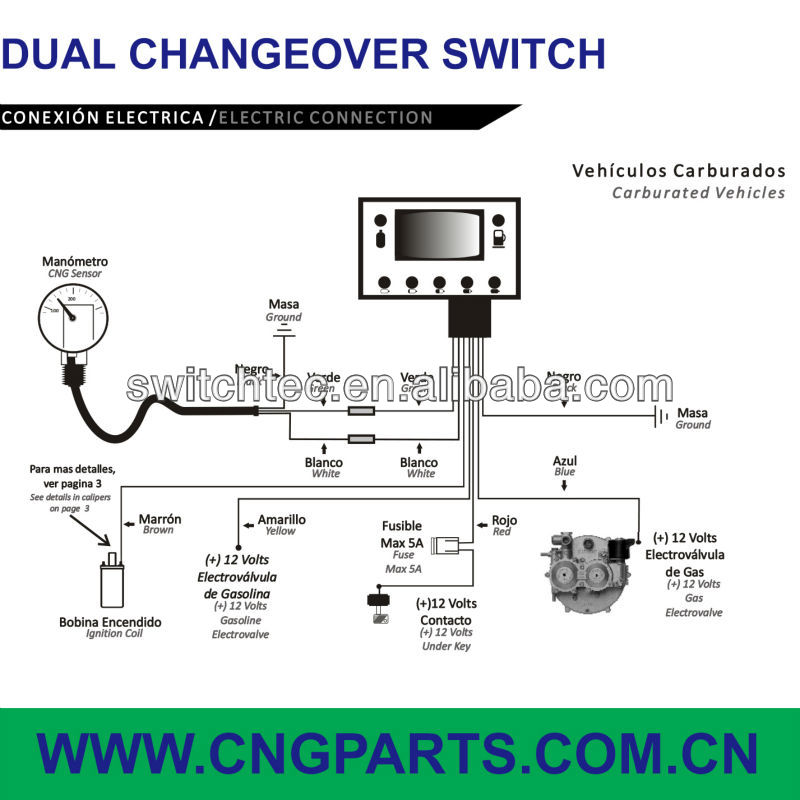 Cng Lpg Changeover Switch Wholesale Suppliers Alibaba: Lpg Changeover Switch Wiring Diagram At Submiturlfor.com